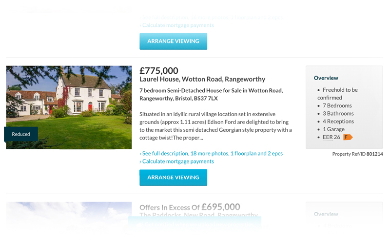 "Each property listing in the search results has all the information a ""searcher"" (I'm sure that's the technical term!) needs to gauge whether the property is for them."